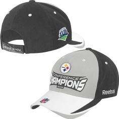 Reebok Pittsburgh Steelers 2008 AFC Conference Champions Locker Room Hat Adjustable -- To view further for this item, visit the image link.