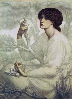 Pre Raphaelite Art: Dante Gabriel Rossetti - The Day Dream