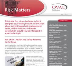 Risk Matters - current topical risk management issues Commercial Business Insurance, Risk Management, Health And Safety
