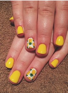 If you are looking for a lovely Nail Art Design for your long nail, you should give an eye to the collection where we have got Nail Designs with flowers, with diamonds, with rhinestones and also palm trees. Nail Art Designs, Beach Nail Designs, Flower Nail Designs, Flower Nail Art, Pineapple Nail Design, Pineapple Nails, Watermelon Nails, Cute Nails, Pretty Nails