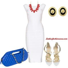 """""""Red White & Blue"""" by ladiesfashionsense on Polyvore"""