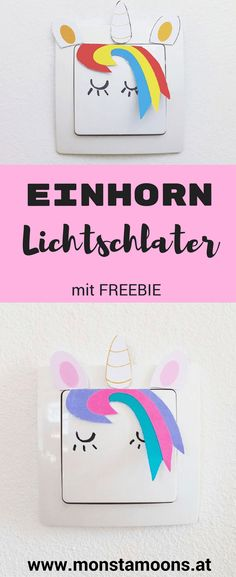 Einhorn basteln, Lichtschalter pimpen, Einhorn Lichtschalter, unicorn ideas, Einhorn Ideen, Mädchenkram, Monstamoons, girl's crafts
