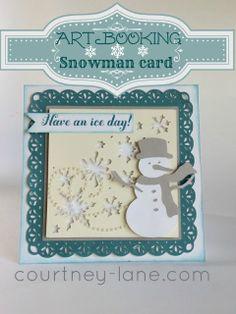 Cricut Artbooking Snowman card