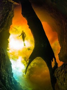 Florida has a wealth of freshwater underwater caves to explore, but Ginnie Springs stands apart for its accessibility and crystal-clear water. There's no need for extra training to explore the large cavern in Ginnie Springs; it's been deemed safe enough for open-water certified scuba divers to enter. The upper portion is lit by sunshine filtering through the entrance—an impressive sight. —Jonathan Shannon