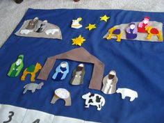 This Felt Nativity Advent Calendar has a template so you can get the felt and cut it out yourself.  There may not be enough time but I think it's a cute idea!