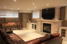 Small Basement Family Room Ideas   basement recreation room - contemporary - basement - toronto - by ...