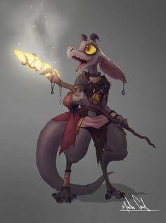 (Megacelo) D&D Fantasy Kobold Mage Art Drawing Fantasy Character Design, Character Creation, Character Design Inspiration, Character Concept, Character Art, Dungeons And Dragons Characters, Dnd Characters, Fantasy Characters, Fantasy Races