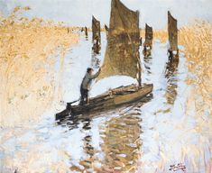 Salvador Dali, Les Oeuvres, Gallery, Painting, Impressionism, In The Rain, Boats, Stone, Artist