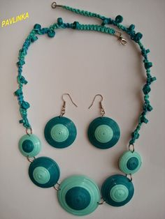 Jewelry with macrame