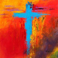 Cross 3 Painting  - Cross 3 Fine Art Print