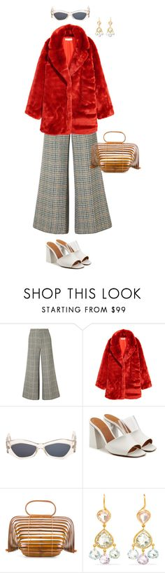 """Untitled #11"" by marcoslunanunoluna ❤ liked on Polyvore featuring Isabel Marant, H&M, Versace, Neous, Cult Gaia and Marie Hélène de Taillac"