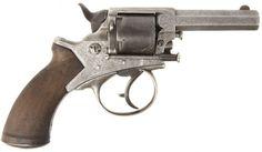 A rare Tranter type antique centre fire revolver , circa 1800's . Made by the Purdey of London .