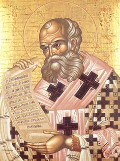 Saint Athanasias the Great became Archbishop of Alexandria cent) at St Athanasius, Day Of Pentecost, John Chrysostom, Patron Saints, Orthodox Icons, Religious Art, Alexandria, Christianity, Catholic