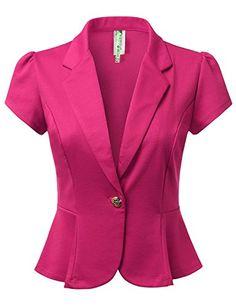 DRESSIS Women's Solid Short Sleeve Single Buttoned Blazer... https://www.amazon.com/dp/B01FSZF6DW/ref=cm_sw_r_pi_dp_XeeCxb7N9M3XP