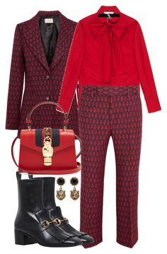 """Untitled #981"" by veronice-lopez on Polyvore featuring Gucci and Yves Saint Laurent"