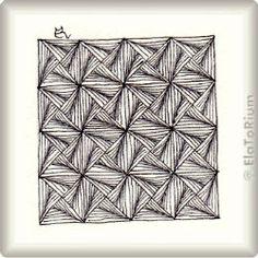 Zentangle-Pattern 'Gommi' by Carol Ohl CZT, presented by www.ElaToRium.de