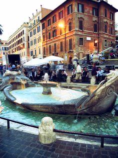 Spanish Steps, Fontana della Barcaccia, Rome, Italy