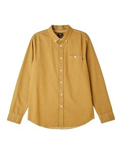 1d29fce7 The Keble Denim Woven L/S Shirt from Obey features a long sleeve button  down shirt with slim fit, single button chest pocket, and round hemline.