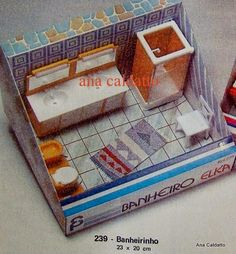 Infância anos 80 - Móveis Elka - Banheiro