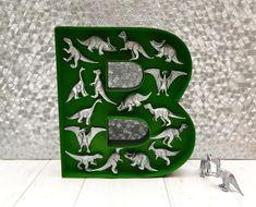 Reptile room decor Dinosaur bedroom letter Dinosaur gift for