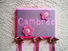 Childrens Bow Holder Personalized in any Color by SplendidlySassy,