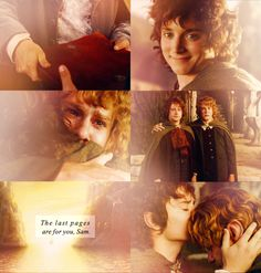 the last pages are for you, Sam - One of the saddest moments in the Lord of the Rings.