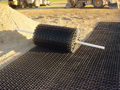 EZ Roll grass paver installed. Use for where the runoff is.