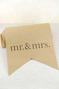 Mr. & Mrs. Paper Table Runner (Set of 3)