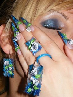 ... My Nails, Nail Designs, Jewellery, Earrings, Fashion, Flower, Ear Rings, Moda, Jewels