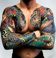 Japanese tattoo sleeves by Mateusz Kanu. half sleeve tattoo designs and meanings tattoos sleeve - tattoos sleeve women - tattoos sleeve ideas - floral tattoos sleeve - skull tattoos sleeve - tattoos sleeve mens - nature ta Half Sleeve Tattoos Designs, Henna Tattoo Designs, Full Sleeve Tattoos, Tattoo Designs And Meanings, Tattoo Sleeves, Tattoo Ideas, Asian Tattoo Sleeve, Japanese Tattoo Symbols, Japanese Tattoo Art
