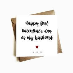 Personalised 'Happy First Birthday as my Husband' Card - Individually Handmade in the U.K using resoponsibly sourced materials - FREE U.