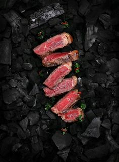 Hooked On Meat on Behance - Darke Pines - Meat Restaurant, Restaurant Menu Design, Beef Steak Recipes, Meat Recipes, Food Photography Styling, Food Styling, Meat Art, Healthy Foods To Make, Meat Store
