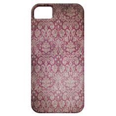 Pink Damask iPhone 5 Case