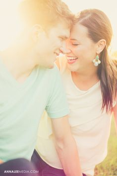 © Anna Lee Media | Oklahoma Engagement Photographer, backlighting, light leaks, couple pose, bright, colorful