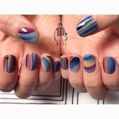 really cute nails Funky Nails, Cute Nails, Pretty Nails, Nails Now, How To Do Nails, 3d Nails, Color Block Nails, Tribal Nails, Nail Patterns