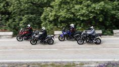 Comparativa maxitrail: Honda Crosstourer, Suzuki V-Strom Triumph Tiger Explorer y Yamaha XTZ 1200 Super Tenere Ktm, Yamaha, Honda, Triumph Tiger, Trail, Explore, Vehicles, Motorbikes, Car