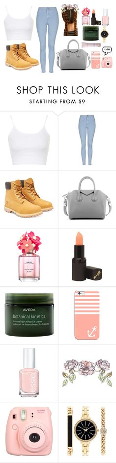 """She covers the pain and draws on a smile"" by m1ap ❤ liked on Polyvore featuring beauty, Topshop, Timberland, Givenchy, Marc Jacobs, Barry M, Aveda, Casetify, Essie and Universal Lighting and Decor"