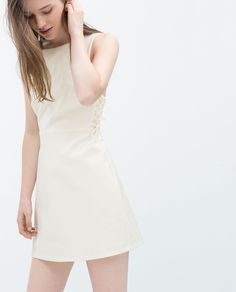 DRESS WITH LACE-UP SIDES-Dresses-TRF $59 ZARA United States