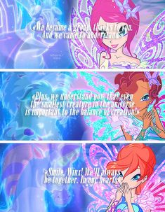 Roxy, Desenhos Love, Flora Winx, Bloom Winx Club, Words Wallpaper, 3 In One, Magical Girl, Disney Love, Dreamworks