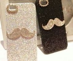 Mustache for his and her iPhone Bling Phone Cases, Iphone Cases Cute, Cool Cases, Growing A Mustache, Video Pink, Bff Gifts, Mobile Cases, Gypsy Style, Tech Accessories