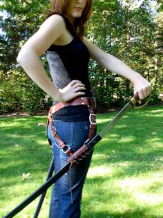 Dual Sword Belt (Reserved for Matthew Bukowski). $130.00, via Etsy.