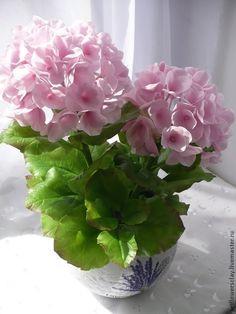 """Купить Гортензия """"Розовое облако"""" - гортензия, розовые цветы, розовая гортензия, цветы ручной работы"""