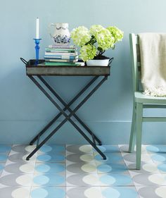 Make your hallway an interesting space by adding patterned tile to the floor #splendidspaces