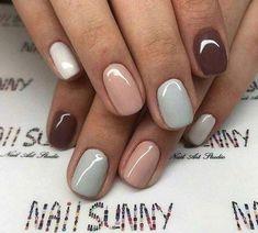 5 Όμορφα σχέδια για απλό μανικιούρ! | ediva.gr Elegant Nail Designs, Short Nail Designs, Elegant Nails, Cool Nail Designs, Colorful Nail Designs, Makeup Designs, Cute Nails, Pretty Nails, My Nails