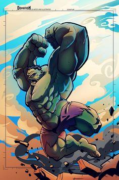 #Hulk #Fan #Art. (Hulk Smash!) By: Dominic O'Neill. (THE * 5 * STÅR * ÅWARD * OF: * AW YEAH, IT'S MAJOR ÅWESOMENESS!!!™)[THANK Ü 4 PINNING!!!<·><]<©>ÅÅÅ+(OB4E)