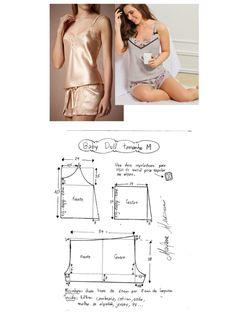 Silky Lace Women's Pajamas Swimsuit Pattern, Bra Pattern, Pants Pattern, Sewing Pants, Sewing Clothes, Diy Clothes, Girl Dress Patterns, Clothing Patterns, Fashion Sewing