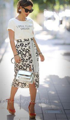 Moda 2019 Primavera Faldas For 2019 Stylish Outfits, Fall Outfits, Cute Outfits, Look Fashion, Fashion Outfits, Womens Fashion, Look Street Style, Street Styles, Looks Style