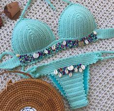 Crochet Bra, Crochet Bikini Pattern, Crochet Bikini Top, Crochet Clothes, Crochet Patterns, Swimsuits, Swimwear, Creations, Lingerie