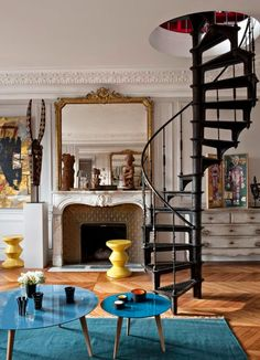 Un apartamento perfecto en París con toques de amarillo · A perfect apartment in Paris with pops of yellow