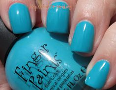 Finger Paints Gumdrops and Lollipops collection is Blue Raspberry Taffy! Click thru for swatches and review.